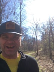 That's me on the Ice Age Trail in Waupaca County. I'm