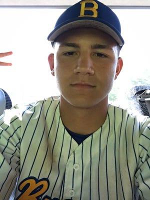 Buena senior third baseman Justin Mainiero.