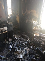 The Fullmer home after a March house fire.  Their dog