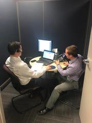 Ryan Conley, left, Matt Dehond at Brite Computers.