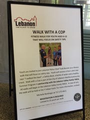 Lebanon police Chief Todd Breiner will be leading safety walks with children ages 6 to 12 this summer.
