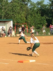 Pitcher Kalie Adkins threw seven strikeouts against St. Michaels on Friday.