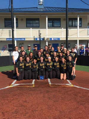 The North Hunterdon softball team poses after winning the North 2 Group IV title on May 30.