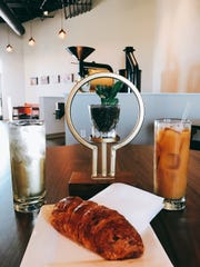A croissant at Harbinger Coffee South.