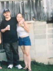 Tiger with his niece Lee Ann Turnbaugh. Lee Ann was