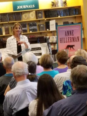 Anne Hillerman, daughter of Tony Hillerman, read from her latest novel to an audience at Barnes & Noble on Thursday, July 27, 2017.