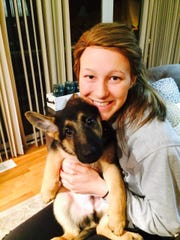 Esther Ybarra is pictured with Keoni when she first got the dog in February of 2015.