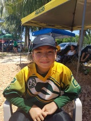 Vaysia Blas (22) Guam Packers right guard and nose