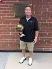 Riverdale girls basketball coach Randy Coffman won his second straight BCAT Don Meyer Coach of the Year award.