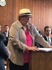 Oakland resident Cecelia Contaldo testifies at a court