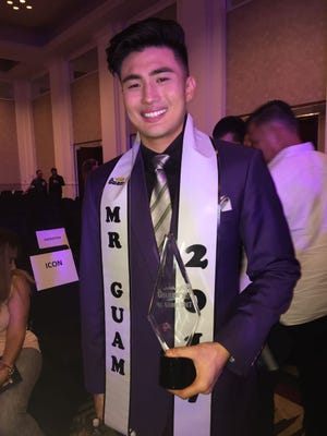 Sam Hashimoto, 23, of Tamuning wins Mr. Guam 2017 on Sept. 28 at the Sheraton Laguna Guam Resort.