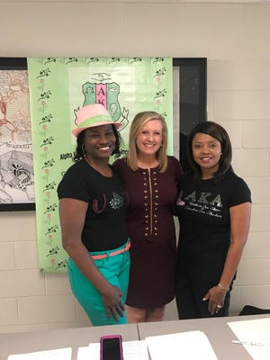Gamma Alpha Omega Chapter of Alpha Kappa Alpha Sorority Inc. helped people register to vote Tuesday at Jackson State Community College.