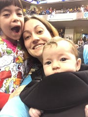 Megan Woodward and her children.