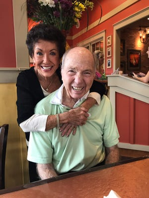 Bart Starr and wife Cherry Starr during a visit to Florida in September 2017.