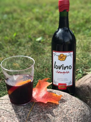 Lovino sangria can be served cold or warm. At left is Mulovino, created from the sangria, which is suitable for a winter drink.