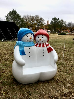 Two new character displays offer parents a spot to take pictures of their children at the The Midwestern State University-Burns Fantasy of Lights, which opened earlier this week and will run through  December 25 on the Hardin lawn of Midwestern State University.