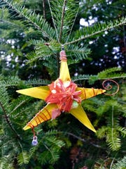 Star ornament by Kelly Hanson, part of the ornament show Dec. 2 at Plum Bottom Pottery & Gallery.