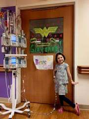 Gia Danninger, 5, of Oconomowoc, stayed at Children's Hospital for 57 days after receiving a bone marrow transplant to treat her aplastic anemia.