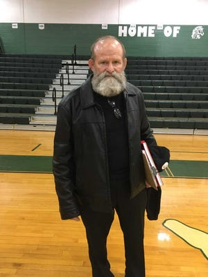 Longtime Rahway wrestling coach Fred Stueber after a meet on Jan. 20, 2018.