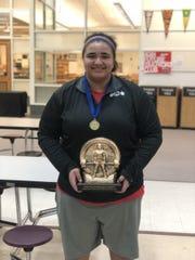 Port Huron High School junior powerlifter Dayle McKinley.