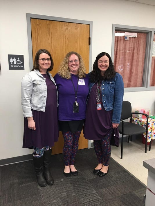 teachers wear purple