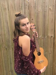 Cassidy Taylor, age 14, sang her song at the recent