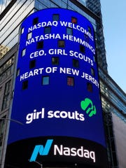 The Nasdaq Stock Market marquee in Times Square Throughout
