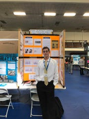 Sammy Homsi, from Centennial High School, was awarded first place in the 2018 state science fair.