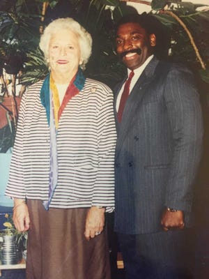 Barbara Bush visited Crispus Attucks twice and saw in its director, Bobby Simpson, a kindred spirit.