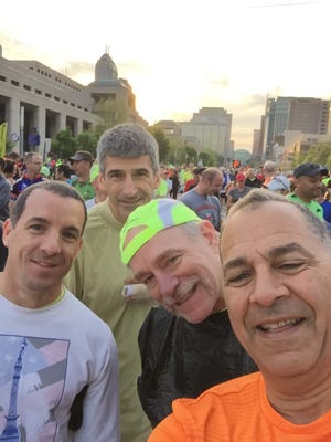 """Greg Tamer, right, captioned this photo: """"My 30th Mini with George Sirilla, Jim Alred, Kevin Bridgewater and myself."""""""