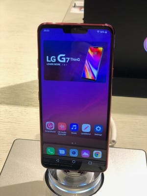 LG G7 ThinQ at New York City launch event, May 2, 2018/