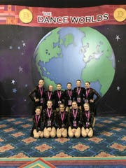 The Starlites Senior team competed at Dance Worlds in Orlando, Fla.