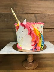 Unicorn cakes come in all shapes and sizes from Sweet T's Bakeshop in Haddonfield.