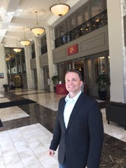 CityCenter@735's features include its ornate lobby at the downtown historic office building. Sheldon Oppermann is executive vice president at building operator Compass Properties LLC.