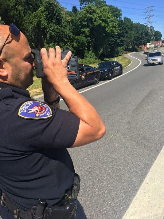 Yonkers officer looks for speeders
