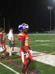 Metuchen's Daniel Russell watches his South teammates