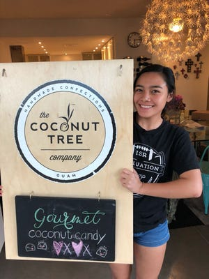 Nyah Rosete, an incoming senior at The Academy of Our Lady of Guam, is working for the Coconut Tree Company this summer.