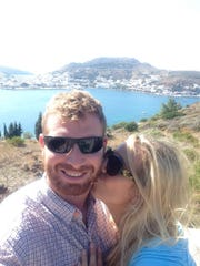 Carl Enis and Angela Drzewiecki during a trip to Patmos,