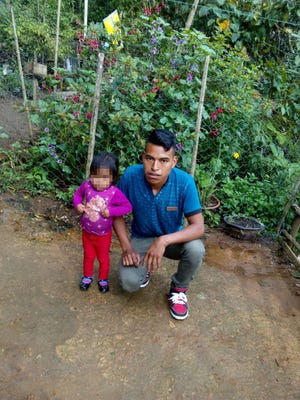 MarioPerez-Domingo and his 2-year-old daughter at their home in Huehuetenango, Guatemala. The two were separated from one another at the U.S./Mexico border despite a federal judge's order and President Trump's executive order to end the practice, according to the Texas Civil Rights Project.