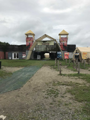 """The entrance to the """"Field Station Dinosaurs,"""" a privately"""