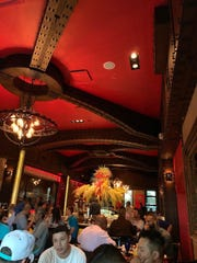 Texas de Brazil, which has several locations in the Dallas area, has a lush and colorful environment.