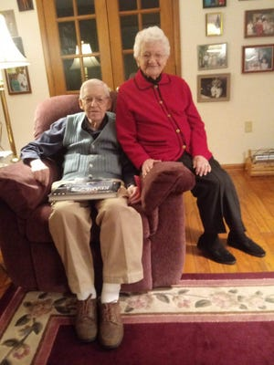 Jim and Loretta Raffensberger celebrated their 74th wedding anniversary in lockdown at their nursing home. Their family joined the small party via Zoom.