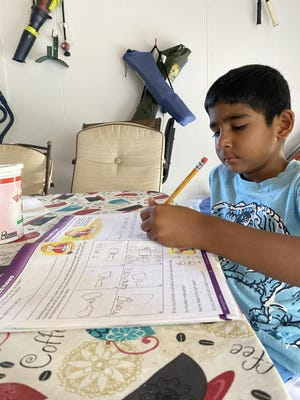 Thomas W Mahan Elementary School student Rashveer Batth will be doing all his school work from home this year. Around 30% of Norwich Public Schools students aren't returning to in-person classes.