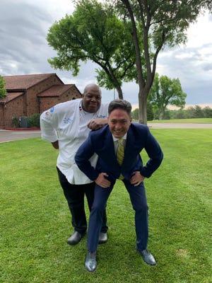 Chef Ron Duprat, at left.