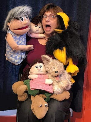"""Puppeteer Mary Wilson and her Pitter Patter Puppets will start a new virtual Thursday-morning show with music called """"Puppets, Paul & Mary."""""""