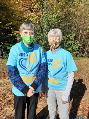 Phyllis Langlois and Evelyn Decota from Deerfield are two of dozens of walkers for hunger on New Hampshire's Seacoast this Sunday, Oct. 18.