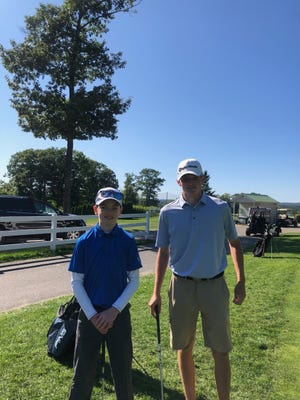 Arlington Catholic golfers Riley Reardon, a freshman, and Tommy Peterson, a junior, both of Burlington,  have produced the second-most points for AC's squad.