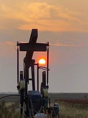 A glowing Kansas sunset in Galva.