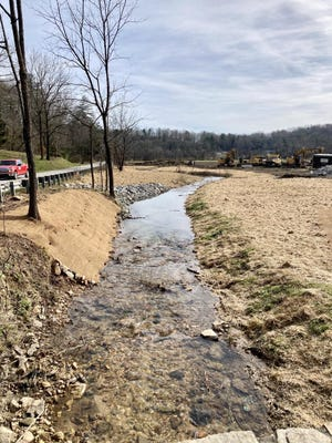 Foster Creek is located on the Living Web Farm and Bryson properties, an area where the stream banks are very steep and high, causing tons of sediment to fall into the stream each year.