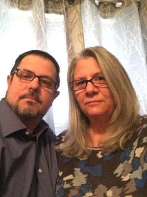 """Rich and Emily Hansen lived in Athens for 23 years before moving in January to Hanover, Pa. """"This is the new normal,"""" Rich says of life without their son."""